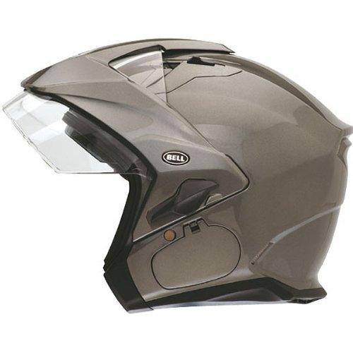 Bell Solid Sena Mag-9 Harley Cruiser Motorcycle Helmet - Titanium  Small