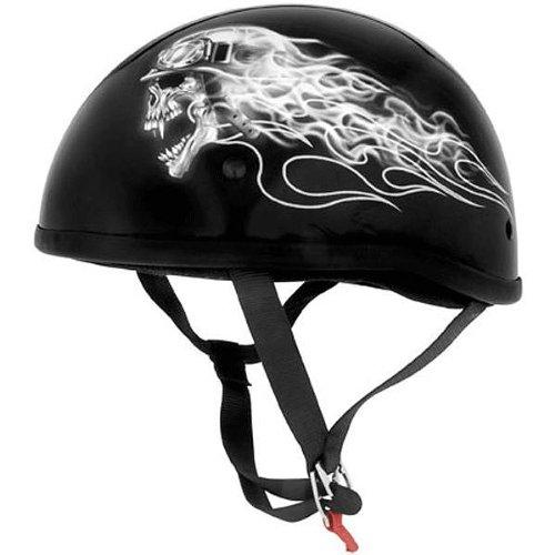 Skid Lid Biker Skull Original Harley Cruiser Motorcycle Helmet - Medium