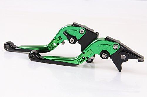 CNC Folding&Extending Brake Clutch Levers For Kawasaki ZX1400 ZX14R ZZR1400 2006-2015 2014 2013 2012 2011 Green Black