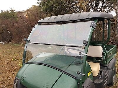 A&S AUDIO AND SHIELD DESIGNS 2006-2016 KAWASAKI MULE 600 610 14 POLYCARBONATE FOLD DOWN WINDSHIELD