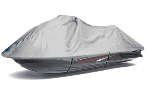 SILVER 420 DENIER TRAILERABLE JET SKI JETSKI PWC COVER FITS Kawasaki Ultra LX  JT1500C8F 2007 2008 -13 2014 2015 2016 2017 2018 3 Seater