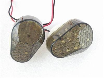2x Flush Mount Smoke Lens 15 Amber LED Turn Signal Light Blinker Indicator For Kawasaki ZX6R  636 2003-2006  ZX7R 1996-2003