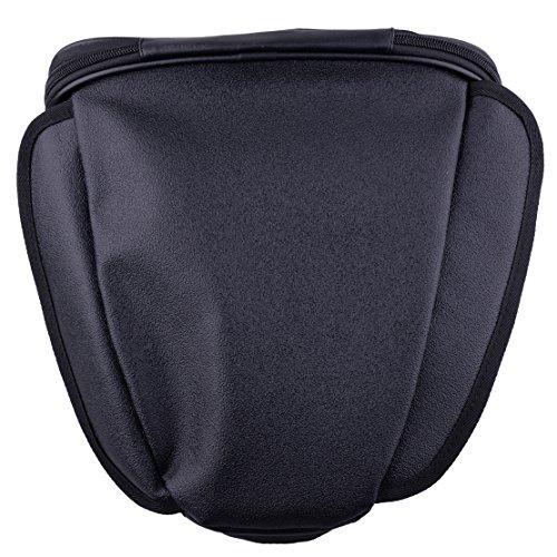 Microfiber Waterproof Tail Bag Motorcycle Back Seat Storage Shoulder Carry Hand Bag Black