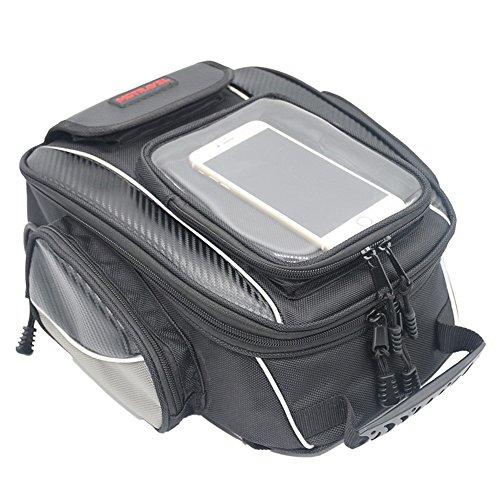 Motorcycle Tank Bag Waterproof with Strong Magnetic Motorbike Bag for Honda Yamaha Suzuki Kawasaki Harley Medium