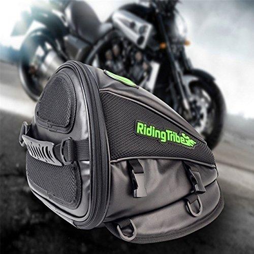 TUINCYN Motorcycle Backrest Saddle Storage Bag Multifunctional Large Capacity Waterproof PU Leather Tank Bag Motorbike Rear Seat Light Tail Bag