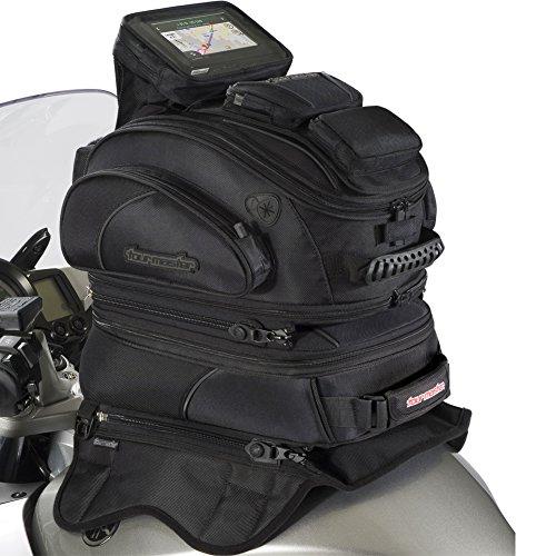 Tour Master Elite Strap Mount Tri-Bag Motorcycle Tank Bag - Black  One Size