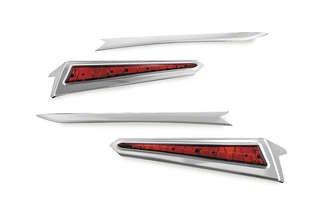 Kuryakyn 7170 Chrome LED Saddlebag Extension