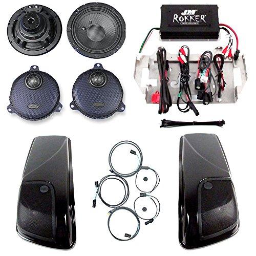 J&M Rokker XXR Four Speaker with Saddlebag Lids and 630W Amplifier Kit for 2014 and Newer Harley-Davidson Street Glide models - HC-630XXR-SGLID14