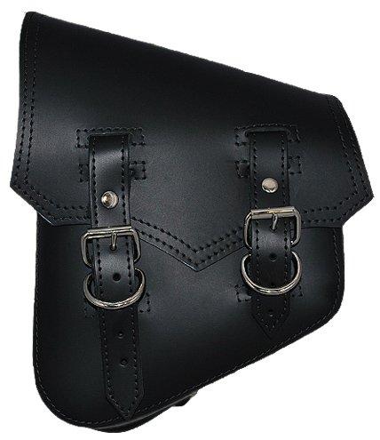 La Rosa Harley-Davidson Softail Rigid Vintage Style Black Leather Left Swing Arm Saddlebag