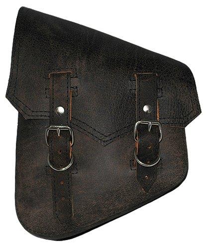 La Rosa Harley-Davidson Softail Rigid Vintage Style Rustic Black Leather Left Swing Arm Saddlebag