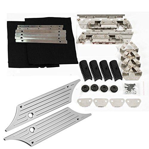 Saddlebag Hard Bag Hardware Kit Chrome Billet Latch Cover Rubber for Harley 93-13