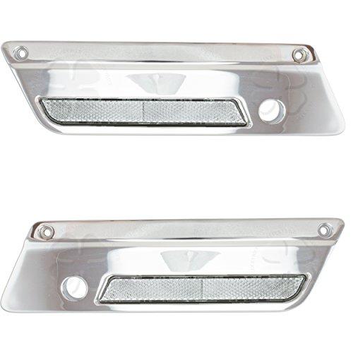 Set Saddlebag Latch Covers Reflectors Harley Touring Luggage Face Plates