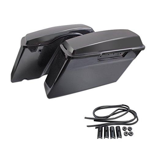 TJMOTO Unpainted Black Saddle Bag Quality Hard ABS Saddlebag W Lib For 1994-2013 Harley Davidson Touring Models Road King Street Glide Electra Glide