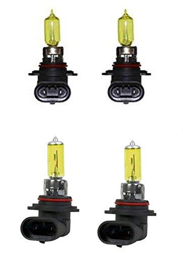 Toyota 91 92 93 94 95 96 97 98 Land Cruiser 03 04 Matrix 94 95 96 97 98 Supra 12v 100w Xenon Gas GOLDEN YELLOW 90059006 head light Bulbs 3000k 4pc High Beam  Low Beam Set