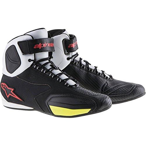 Alpinestars Faster Shoes 12 BLACKWHITEREDYELLOW