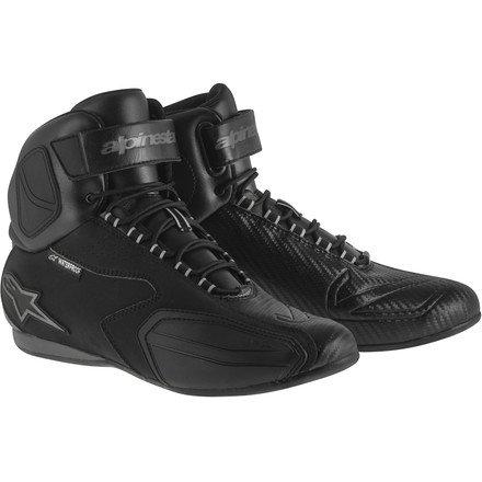 Alpinestars Faster Womens Waterproof Street Motorcycle Shoes - BlackGray  8