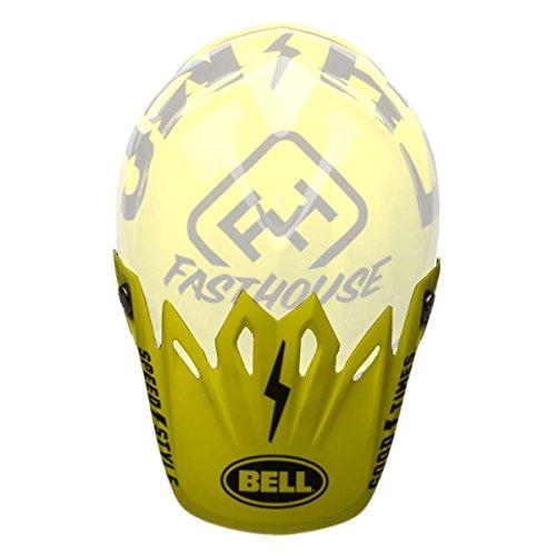 Bell Powersports Moto-9 Helmet - Replacement Visor - Fasthouse BlackFlo Yellow - 7086424