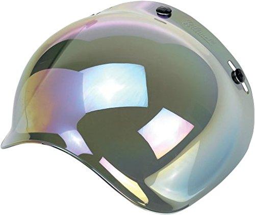 Biltwell Bubble Shield Visor for 3-snap Helmets - Rainbow Mirror