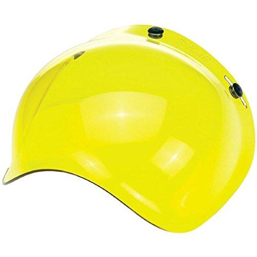 Biltwell Bubble Shield Visor for 3-snap Helmets - Yellow