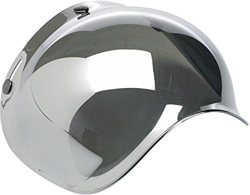 Biltwell Smoke Tint Bubble Shield Chrome Mirror One Size