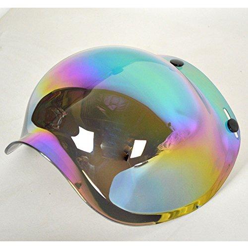 PGR B70v Bubble Visor 3 snap Shield Bobber retro 34 open face fits biltwell Gringo Bonanza Bell custom 500 Fulmer AFX Rackus Iridium