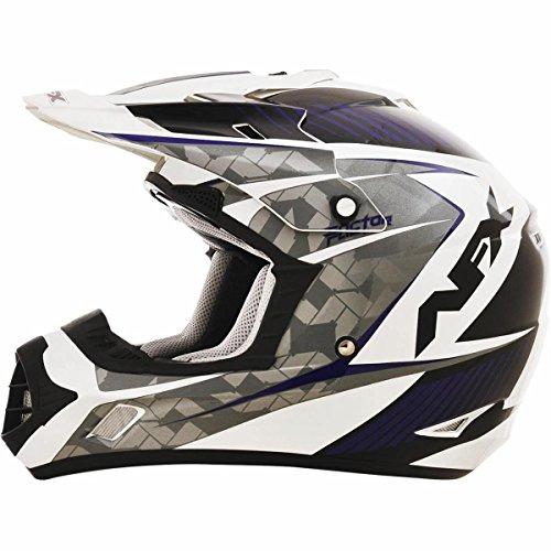 AFX FX-17 Factor Mens Motocross Helmets - WhiteBlue - Small
