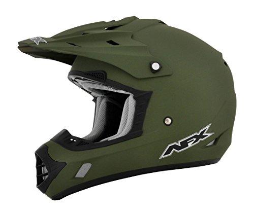 AFX FX-17 Flat Olive Drab Mens Motocross Helmets - X-Small