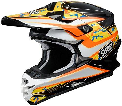 Shoei VFX-W Turmoil Mens Motocross Helmets - Orange - X-Small