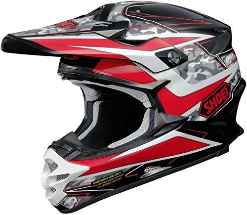 Shoei VFX-W Turmoil Mens Motocross Helmets - Red - X-Small