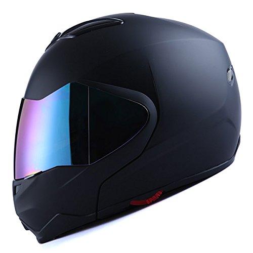 1Storm Motorcycle Street Bike ModularFlip up Dual VisorSun Shield Full Face Helmet Matt Black