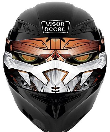 V02 Robot VISOR TINT DECAL Graphic Sticker Helmet Fits Icon Shoei Bell HJC Oneal Scorpion AGV