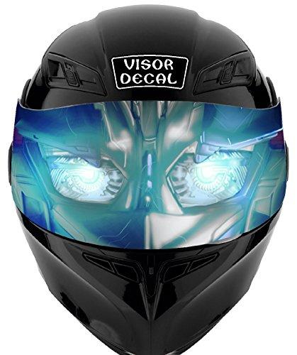 V03 Robot VISOR TINT DECAL Graphic Sticker Helmet Fits Icon Shoei Bell HJC Oneal Scorpion AGV