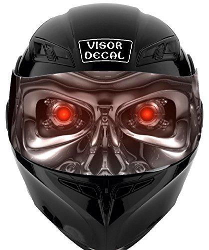 V04 Robot VISOR TINT DECAL Graphic Sticker Helmet Fits Icon Shoei Bell HJC Oneal Scorpion AGV