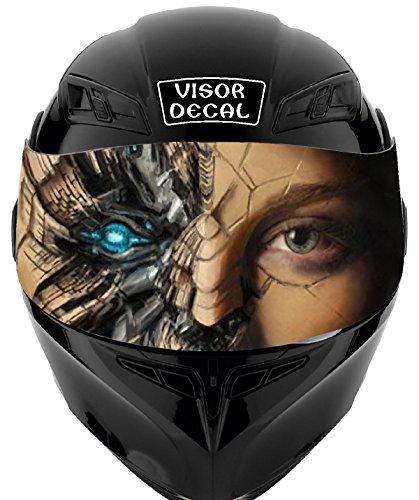 V05 Cyborg VISOR TINT DECAL Graphic Sticker Helmet Fits Icon Shoei Bell HJC Oneal Scorpion AGV