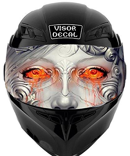V07 Robot VISOR TINT DECAL Graphic Sticker Helmet Fits Icon Shoei Bell HJC Oneal Scorpion AGV