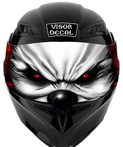 V14 Evil Clown VISOR TINT DECAL Graphic Sticker Helmet Fits Icon Shoei Bell HJC Oneal Scorpion AGV