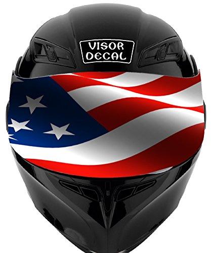 V19 American Flag VISOR TINT DECAL Graphic Sticker Helmet Fits Icon Shoei Bell HJC Oneal Scorpion AGV