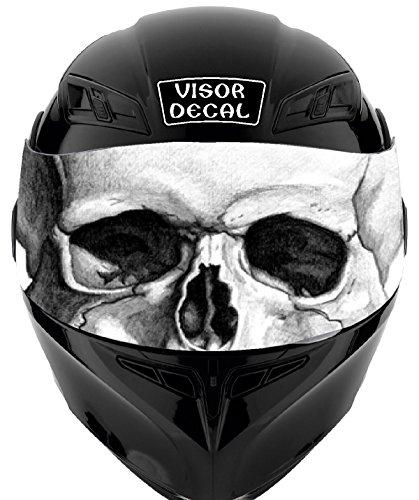 V25 Skull VISOR TINT DECAL Graphic Sticker Helmet Fits Icon Shoei Bell HJC Oneal Scorpion AGV