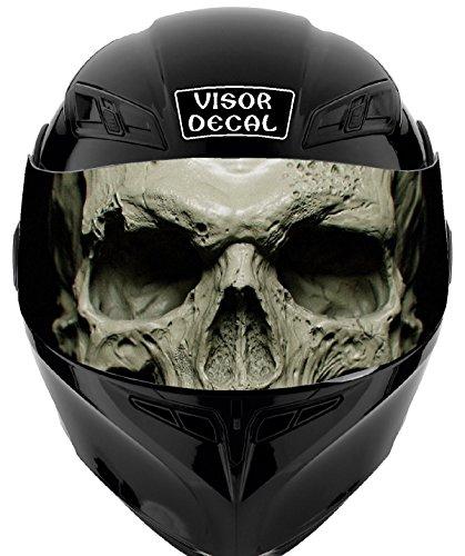 V26 Skull VISOR TINT DECAL Graphic Sticker Helmet Fits Icon Shoei Bell HJC Oneal Scorpion AGV