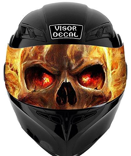 V31 Skull Flames VISOR TINT DECAL Graphic Sticker Helmet Fits Icon Shoei Bell HJC Oneal Scorpion AGV