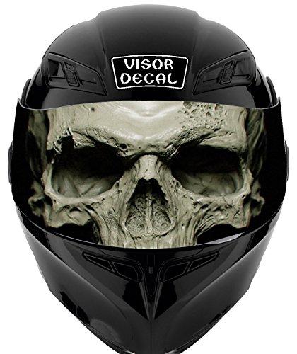 V34 Skull VISOR TINT DECAL Graphic Sticker Helmet Fits Icon Shoei Bell HJC Oneal Scorpion AGV