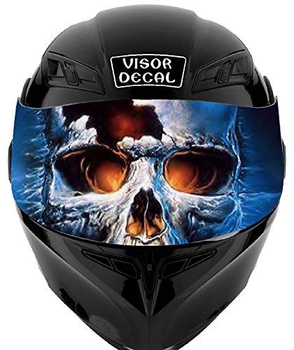 V35 Skull VISOR TINT DECAL Graphic Sticker Helmet Fits Icon Shoei Bell HJC Oneal Scorpion AGV