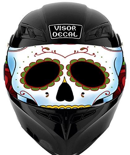 V37 Sugar Skull VISOR TINT DECAL Graphic Sticker Helmet Fits Icon Shoei Bell HJC Oneal Scorpion AGV