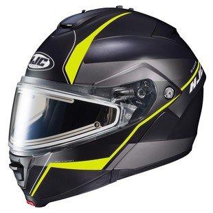 HJC IS-MAX 2 Mine Electric Snow Helmet Matte BlackHi-Viz Yellow MD
