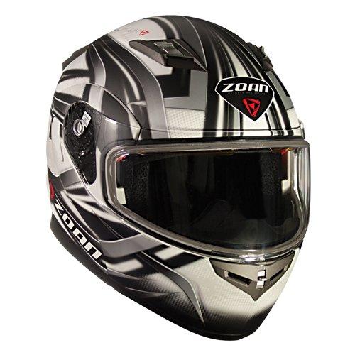 Zoan Flux 41 Devil Flat White Electric Lens Shield Modular Snowmobile Helmet 2X-Large