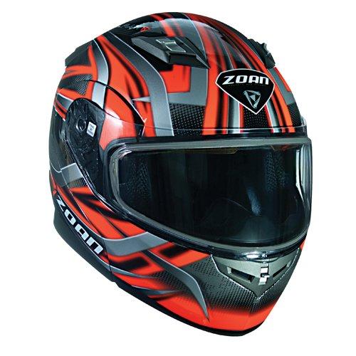 Zoan Flux 41 Devil Orange Electric Lens Shield Modular Flip Up Snowmobile Helmet X-Large