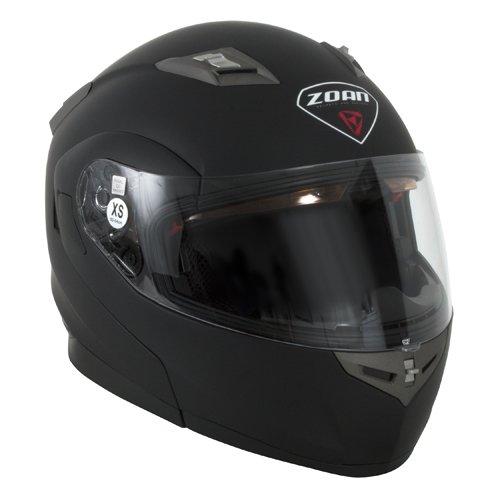 Zoan Flux 41 Matte Black Electric Lens Shield Modular Flip Up Snowmobile Helmet X-Large