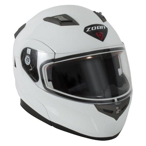 Zoan Flux 41 Snow Gloss White Electric Lens Modular Full Face Snowmobile Helmet 2X-Large