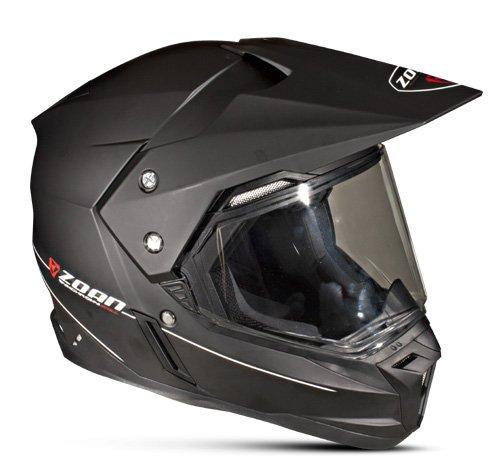Zoan Synchrony Duo-Sport Matte Black Electric Lens Adventure Snowmobile Helmet 2X-Large