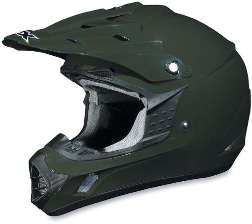 AFX FX-17 Solid Helmet  Size XL Primary Color Green Helmet Type Offroad Helmets Helmet Category Offroad Distinct Name Olive Gender MensUnisex 01101760